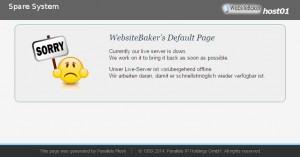 Websitebaker Seite tot/down