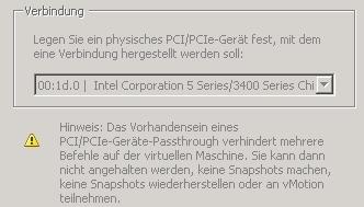 PCI-USB selektieren